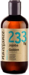 Naissance,Cold Pressed,Golden,Jojoba Oil,250ml,Pure,Natural,Unrefined,Vegan,Hexane Free,GMO free,Aromatherapy,Massage,Base Oilhow to use,jojoba oil,benefits,uses,hair,nails,skin,natural,essential oils