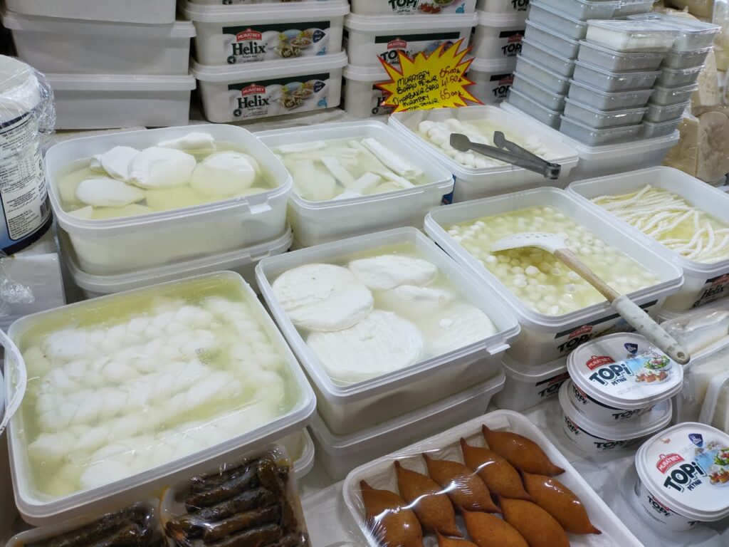 Turkish cheese, cheese variations,local store, local produce, Basaksahir,Istanbul,Turkey
