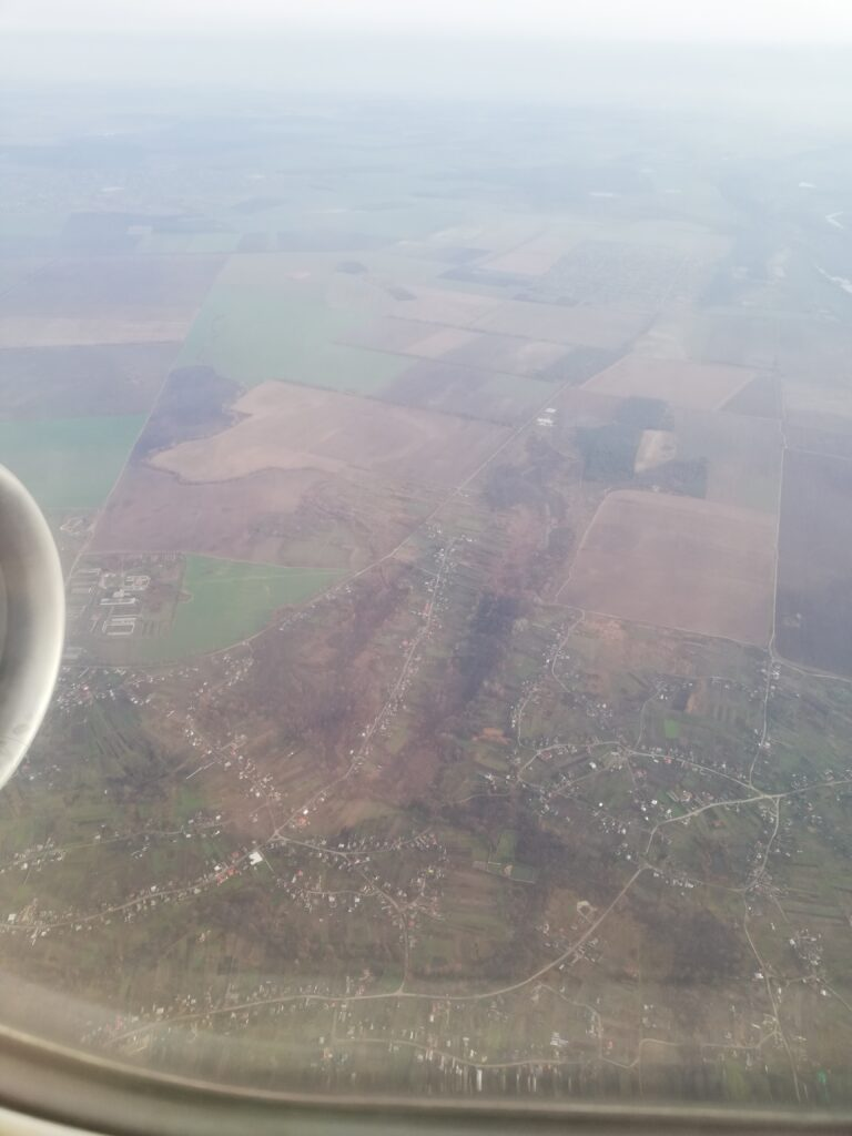 birds eye view of Turkey,Airplane view of Turkey, Turkey view from plane, green fields of Turkey, November 2020