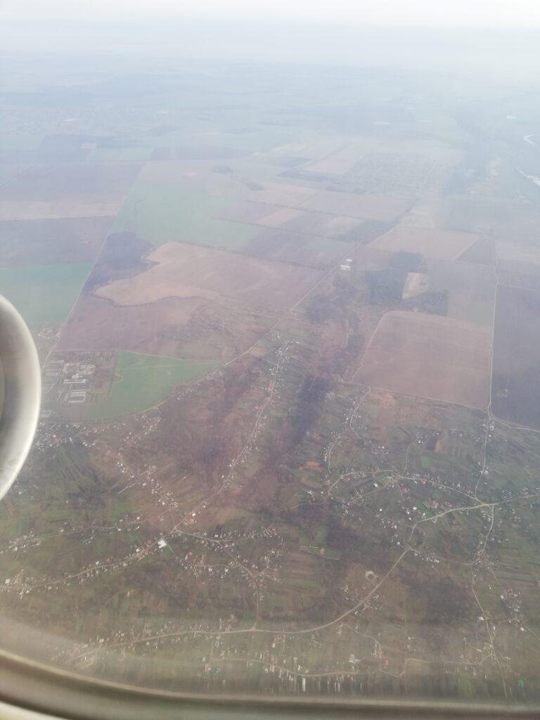 birds eye view of Turkey,Airplane view of Turkey, Turkey view from plane, green fields of Turkey, November 2020