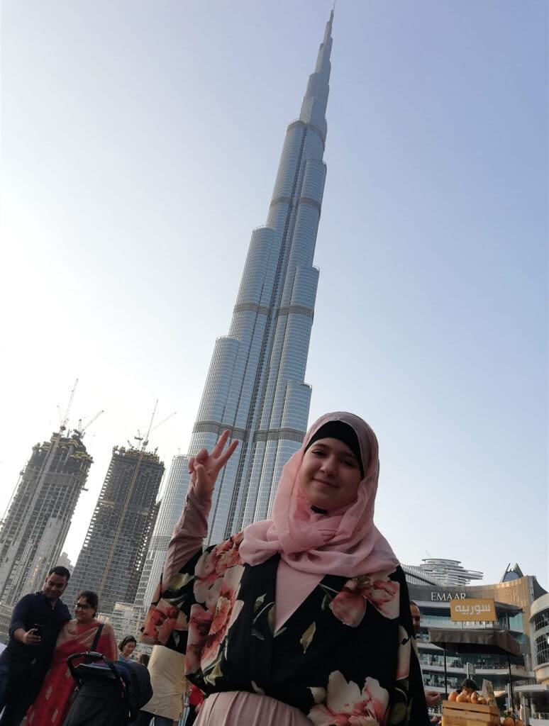 burj khalifa, muslim family,muslim girl,Dubai,UAE, Dubai life, life in UAE